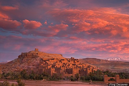 Aït Ben Haddou, High Atlas, Ksar, morning light, Morocco, mountains, Ounila River