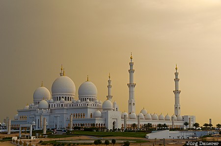 ARE, United Arab Emirates, Abu Dhabi, clouds, Dubai, minaret, morning light