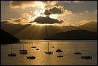 Sun Beams and Boats