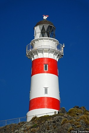 Mangamate, New Zealand, Pirinoa, blue sky, Cape Palliser, Cook Strait, Lighthouse