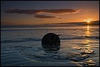 Moeraki Boulder and sunrise