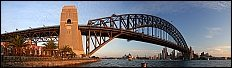 Sydney Harbor Bridge, New South Wales, Australia, Sydney, sea, harbour, harbor, opera house, bridge, evening light