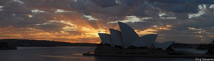 New South Wales, Australia, Sydney, clouds, sunrise, sun beams, sky