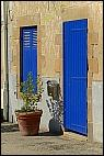 Blue facade in Auray