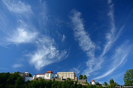 Veste Oberhaus, Bavaria, blue sky, castle, cloud, fortress, Germany, Passau, Deutschland, Bayern