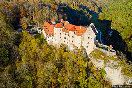 Ahorntal, autumn, Bavaria, Burg Rabenstein, castle, colorful trees, DEU, Germany, Deutschland, Bayern