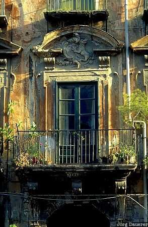 Palermo, window, old house, Sicily, Italy, Mediterranean, Fenster
