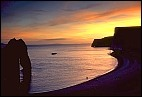 Lulworth Cliffs Sunset
