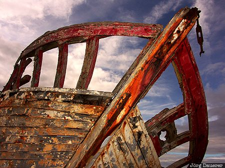 An Bun Beag, boat wreck, Bunbeg, Cara Na Mara, coast, County Donegal, external flash