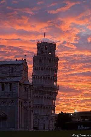 Italy, Pisa, Tuscany, Toscana, Cathedral, church, Leaning Tower of Pisa