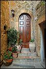 Door and Flower Pots