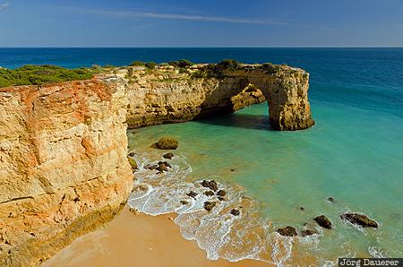 Algarve, natural arch, arch, sea arch, Atlantic Ocean, beach, Benagil