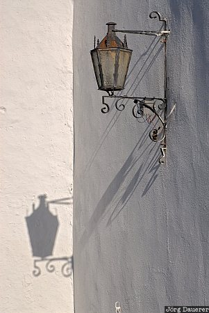 Spain, Andalusia, Ronda, white, lamp, street light, street lamp, Spanien, Espana, Andalucia, Andalusien