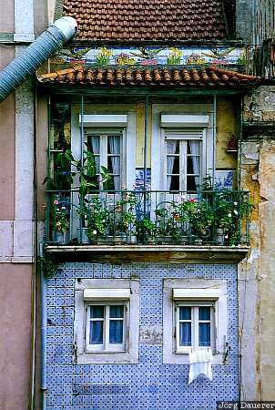 details, windows, alfama, azulejos, Lisbon, Portugal