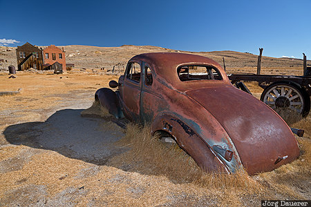 Bodie, Bridgeport, California, United States, USA, blue sky, bodie State Historic Park