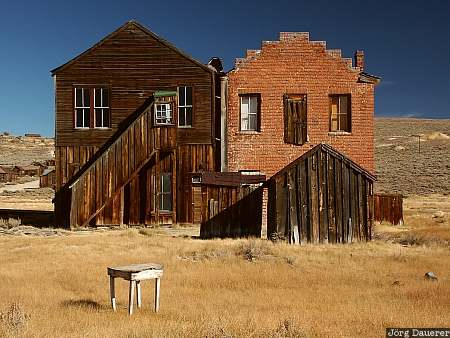 bodie, ghost-town, gold, houses, ruin, California, United States