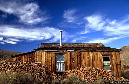 bodie, ghost-town, gold, house, ruin, clouds, California