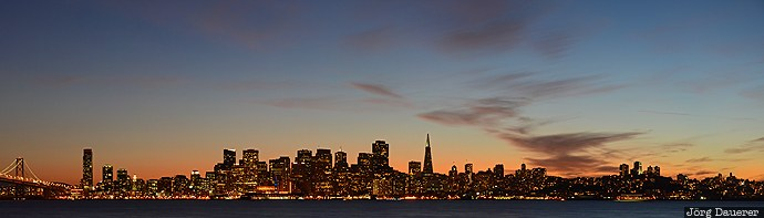 California, San Francisco, Sydney Town (historical), United Stat, evening light, flood lit, illuminated