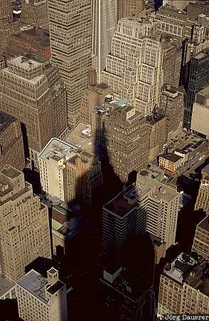 empire state building, shadow, New York, Manhattan, United States, US, North America