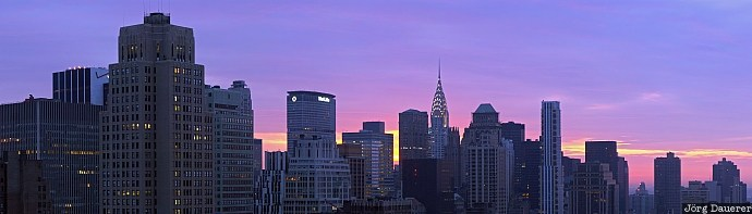 clouds, Manhattan, morning light, New York, skyline, skyscrapers, sunrise