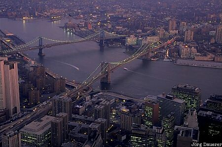 Manhattan Bridge, Brooklyn Bridge, New York, Manhattan, Brooklyn, bridge, United States