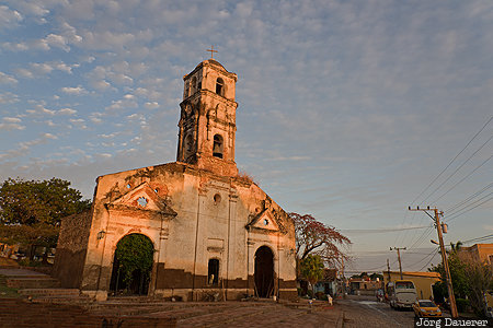 CUB, Cuba, La Popa, Sancti Spíritus, church, clouds, evening light, Trinidad, Kuba, Sancti Spiritus