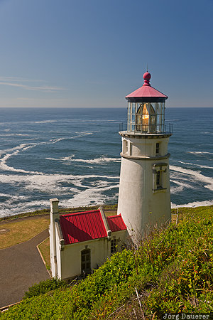 Florence, Oregon, beach, coast, Heceta Head, Heceta Head Lighthouse, lighhouse, United States, USA, Vereinigte Staten, OR