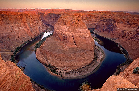 Arizona, bend, canyon, colorado river, Horseshoe bend, morning light, Page, United States, USA, Vereinigte Staten, AZ